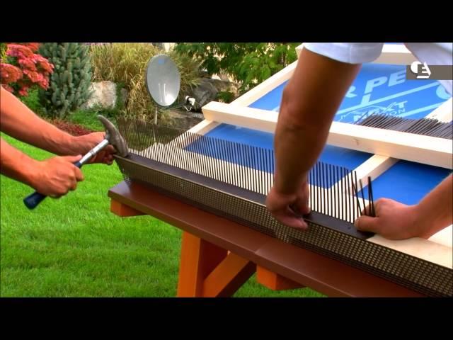 Comment poser un peigne dégout pour une toiture en pente