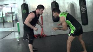 Dan The Wolfman vs Iran Wrestling Coach Iranian Wrestler Takedowns!