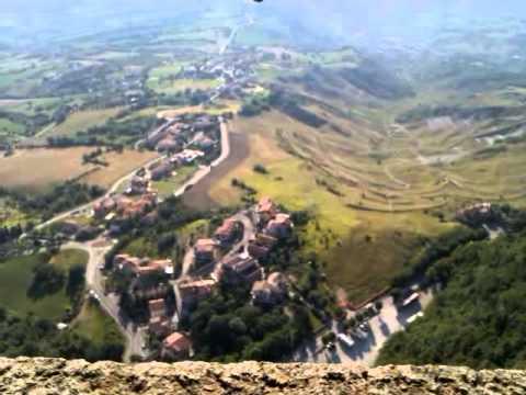San Marino - panorama dalla rocca della Guaita