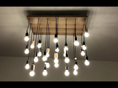 diy lustre multi ampoules youtube. Black Bedroom Furniture Sets. Home Design Ideas
