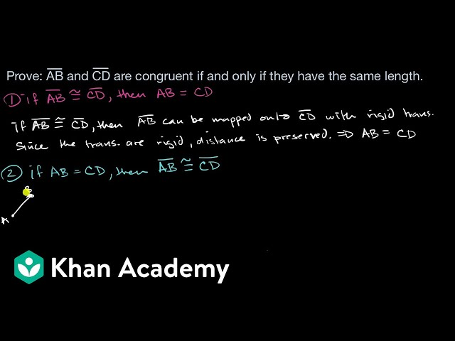 Showing segment congruence equivalent to having same length