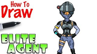 How to Draw the Elite Agent | Fortnite