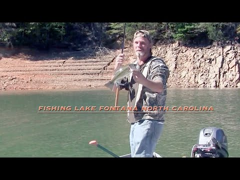 Fishing Lake Fontana, North Carolina