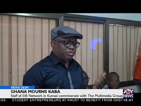 Ghana Mourns KABA - News Desk on Joy News (22-11-17)