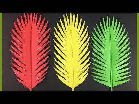 DIY Paper Leaves Making | Paper Leaf DIY | Paper Craft Tutorial