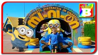 MINION City  Fun for Kids on outdoor playground with Minions  Bogdan's Show