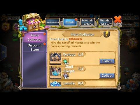 Rolling And Win Hero Collector Events Castle Clash