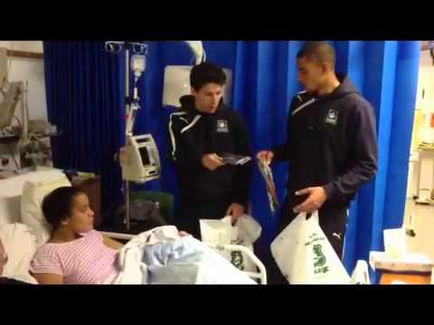 Plymouth Argyle stars visit children at Derriford Hospital this Plymouth