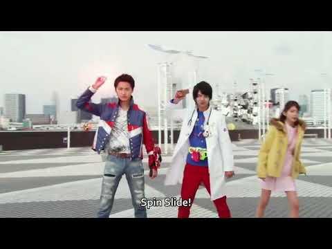 #kamenrider-#supersentai-#tokusatsu-kamen-rider-ex-aid-vs-kyuuranger-shishi-red