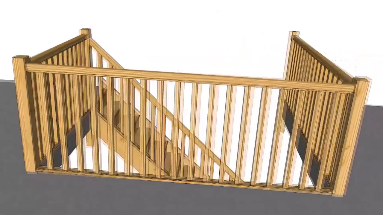 Build Newel Post How To Fix Your Handrail To A Newel Post Using The Stairbox
