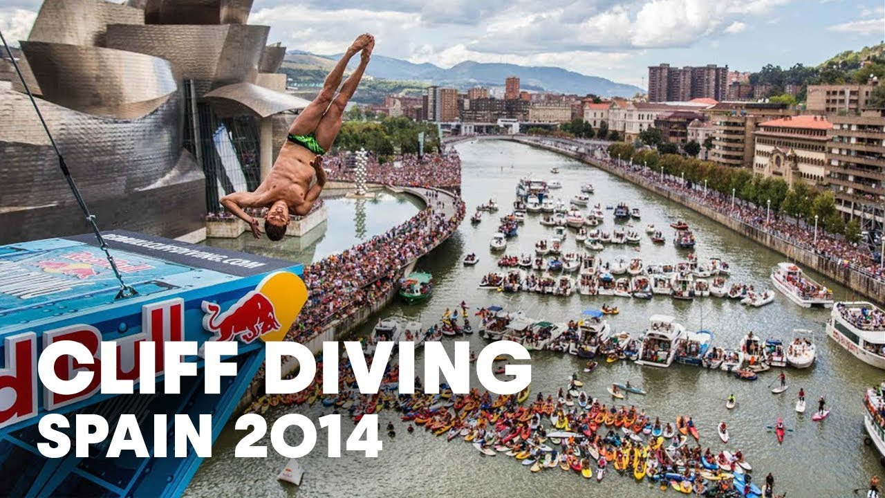 Cliff Diving Action From Spain