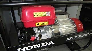 Ремонт и обслуживание Хонда/Honda ECT 7000 P трехфазный бензиновый генератор IP-54