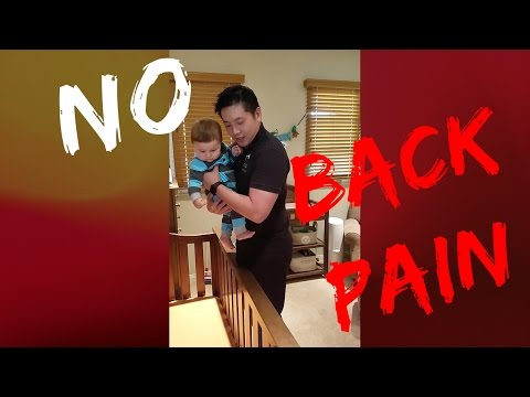 Prevent Back Pain: How to lift my baby out of a crib safely