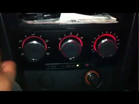 Mazda 3 custom HVAC knob install