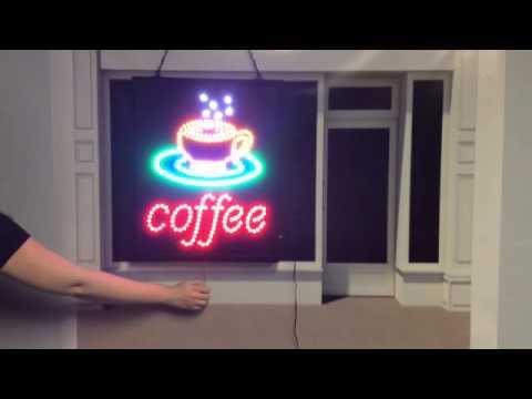 Download Vasten Coffee Cup Signboard Shop Neon Light MP3