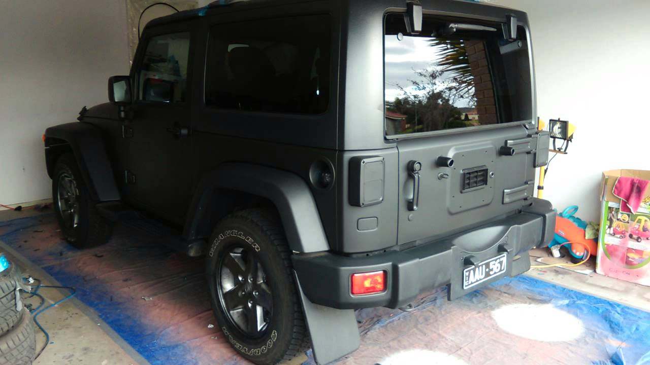 Jeep Wrangler 2014 Matte Black Plastidip Youtube