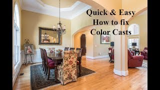 Quick and easy way to correct color casts.