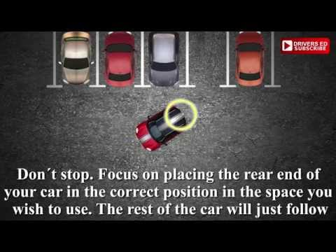 Parking, reversing into a space  Method 3. Tutorial, how to