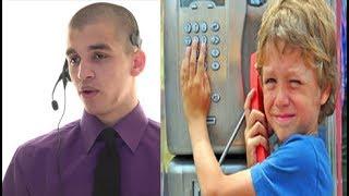 دخل طفل الى محل تسوق وقام باجراء مكالمة .. ولكن كان الموظف يتجسس وما سمعة كان صادم