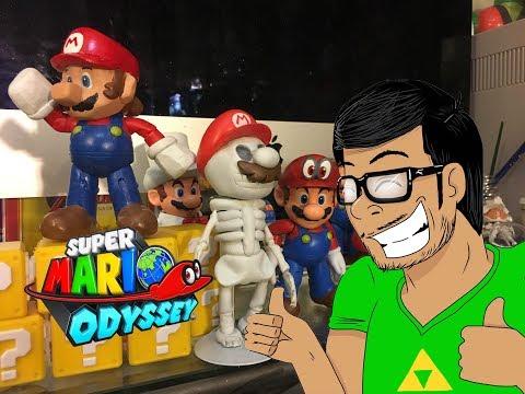 Super Mario Odyssey #4 (CUSTOM) Mario 64 and Skeleton Mario Nintendo toys custom action figures