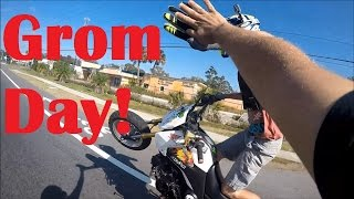 70 Groms Terrorizing The Streets!  Grom Day 2k16 Stunt Ride