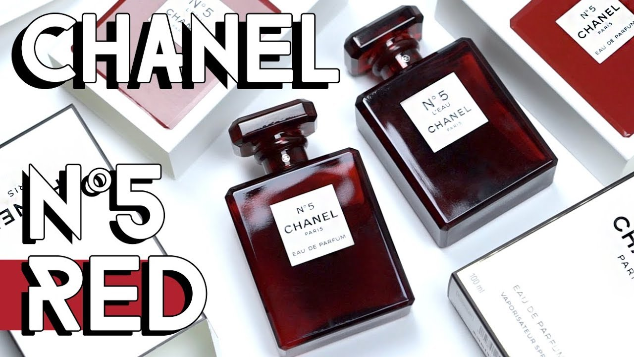 Red Chanel N5 Edp Leau Bottles Unboxing Review Youtube