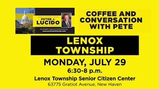 Sen. Lucido to host Coffee Hours on July 29