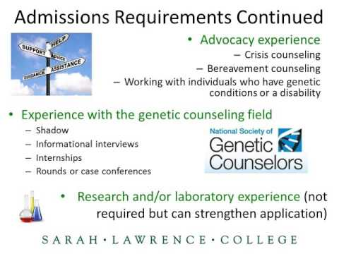 Sarah Lawrence College Human Genetics MS Application Webinar (12/7/15)