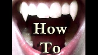 HOW TO MAKE FANGS IN LESS THAN 30 SECONDS - USING ONLY GUM - HD