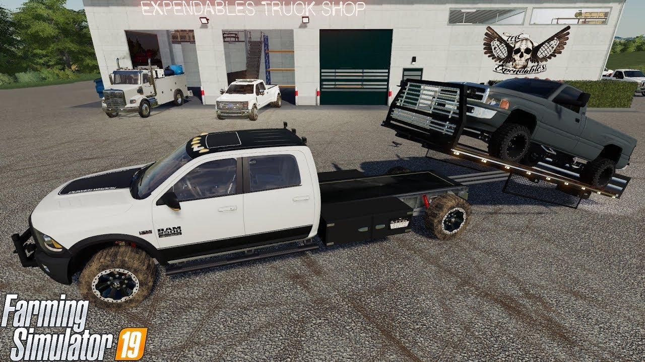 FS19 New Dodge Ram Rollback Tow Truck Wrecker For Our Service Shop - YouTube
