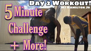 DAY 2 Home Workout To Jump Higher w/ Anthony Hamilton Jr! Can You Complete The 5-Minute Challenge??