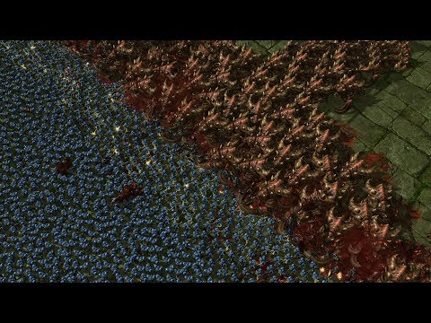 430 ULTRALISKS vs 5000 MARINES - Starcraft 2 MASSIVE Battles