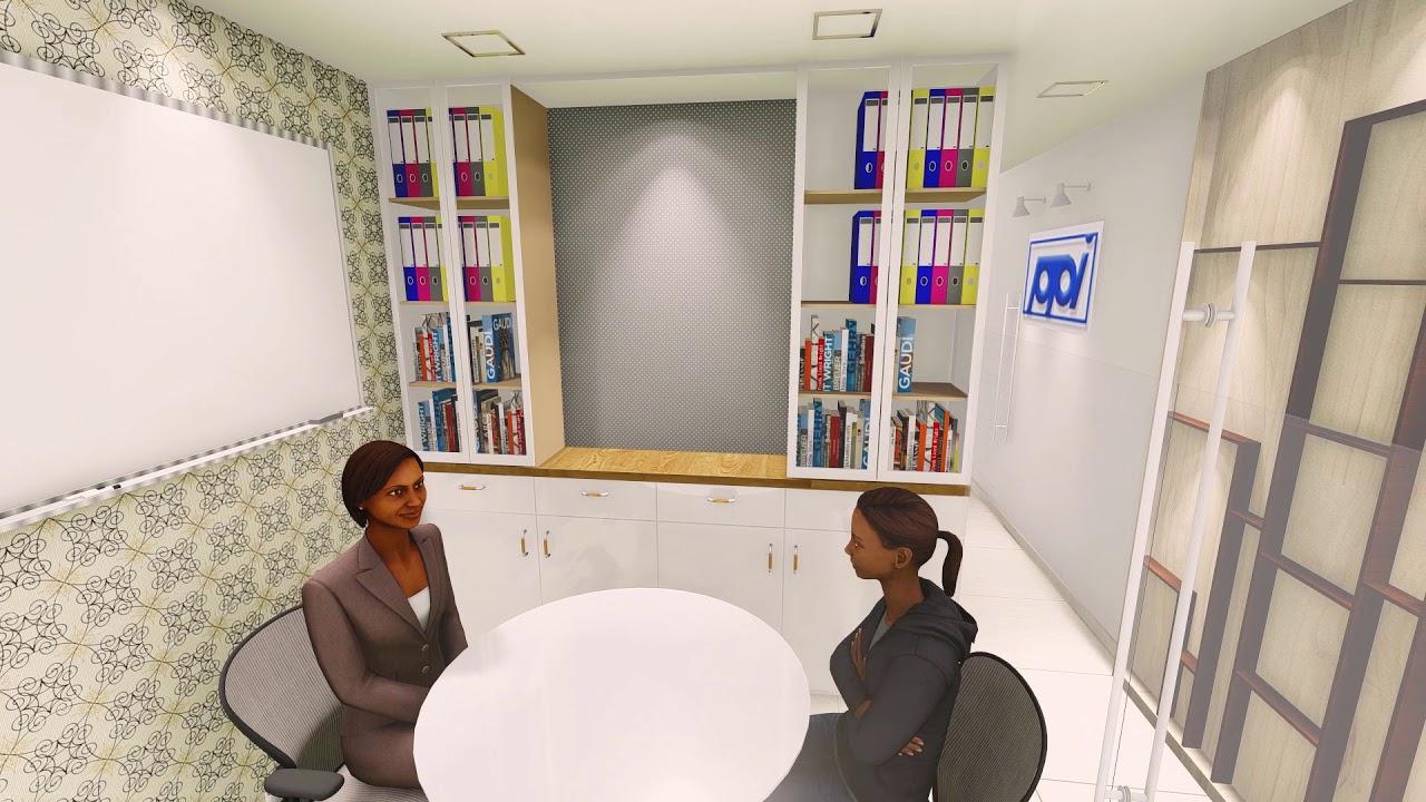 Interior Design For 400 Sqft Commercial Office Sketchup 2018 Lumion Walkthrough Youtube