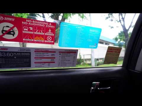 Singapore, taxi ride in Joo Koon