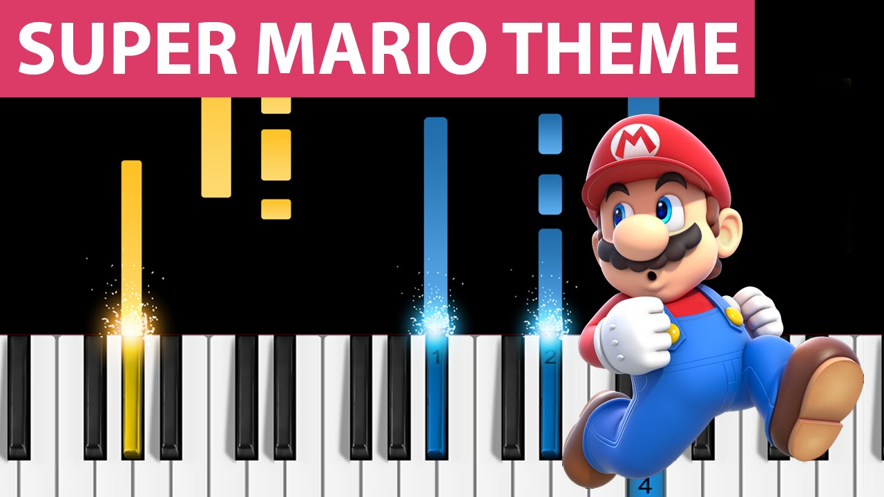 Super Mario Theme - Easy Piano Tutorial - How to play Super Mario (スーパーマリオ)  on piano!
