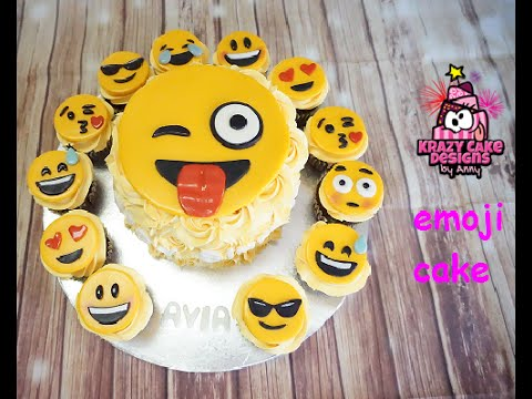 Cake Designs Emoji : How to make emoji cake/ ???????? emoji ??? - YouTube