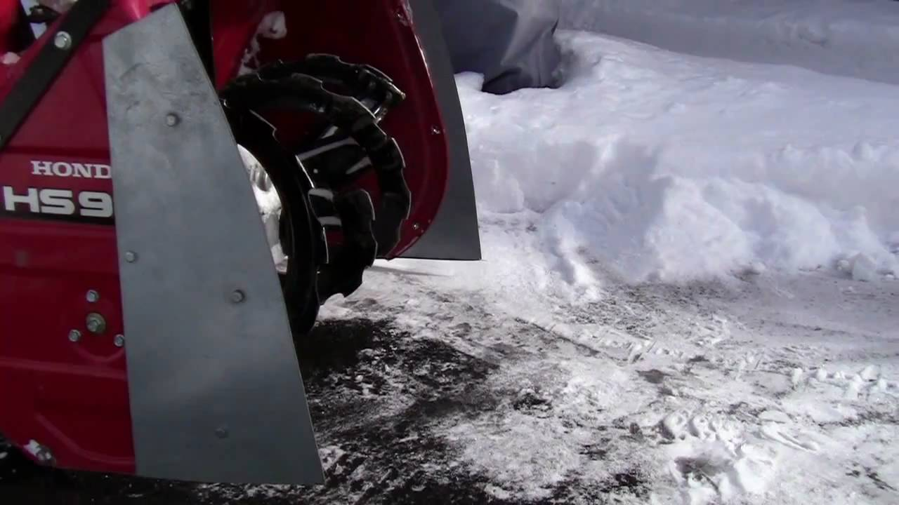 Honda Snow Blower Modification How To Video - YouTube