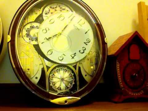 Rhythm Small World Clock From Japan (スモールワールドM509)