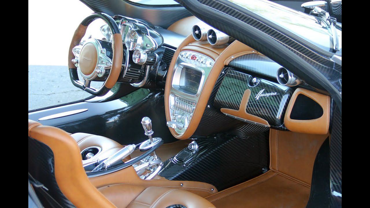 top 20 luxury car interior pagani huayra youtube. Black Bedroom Furniture Sets. Home Design Ideas