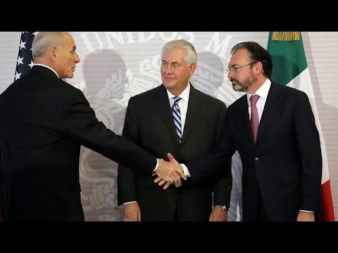 Frostiger Empfang in Mexiko: US-Außenminister Tillerson auf diplomatischem Glatteis