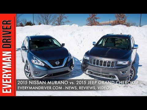 2015 Nissan Murano vs. 2015 Jeep Grand Cherokee on Everyman Driver