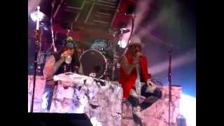 Steel Panther, Kanye, Weenie Ride and Stripper Girl, live in Zürich, am 01.04.15