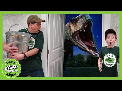 Dinosaur Escape Room! Giant T-Rex Dinosaurs Adventure For Kids & Mystery Toys Videos For Kids