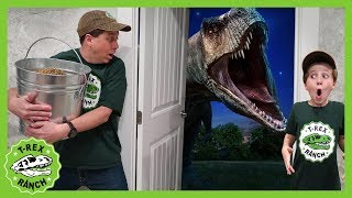 Dinosaur Escape Room! Giant T-Rex Dinosaurs Adventure For Kids & Mystery Toys