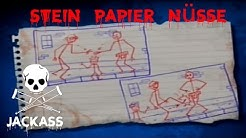 Jackass The Game Stein Papier Nüsse