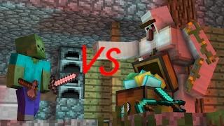 【マイクラアニメ】ゾンビ対アイアンゴーレム【Minecraft・マインクラフトアニメ】
