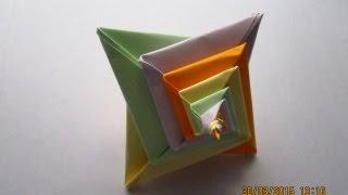 как сделать пирамиду из бумаги.Оригами