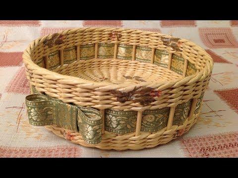 #1084 Мастер-класс от Нины Корзинка из газет Woven basket from newspaper ENGLISH SUBTITLES