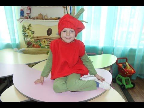 Шью костюм помидора на праздник ОСЕНИ в детский сад