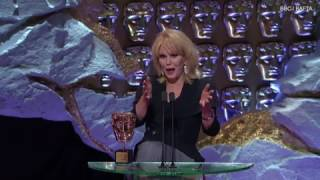 Joanna Lumley signs off BAFTA speech in true Ab Fab style